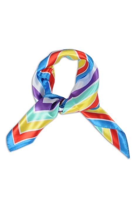 SKN22 設計女職業領巾 仿真絲方巾 百搭領巾 領巾製造商