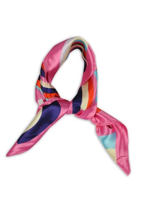 SKN25 訂做韓版職業裝飾領巾 文藝潮流小絲巾 仿真絲小方巾 領巾供應商