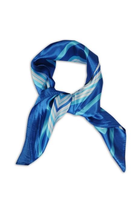 SKN26 設計女仿真絲小方巾 春秋領巾 職業領巾 領巾製造商