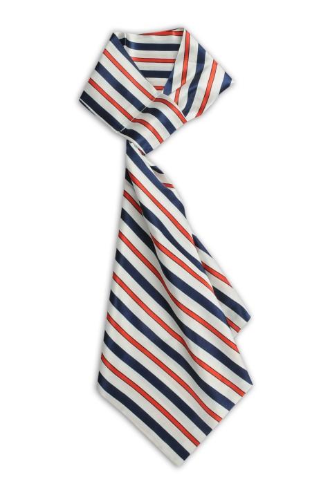 SKN29 設計時尚百變絲巾 條紋 銀行工作服職業絲巾 裝飾領巾 領巾製造商