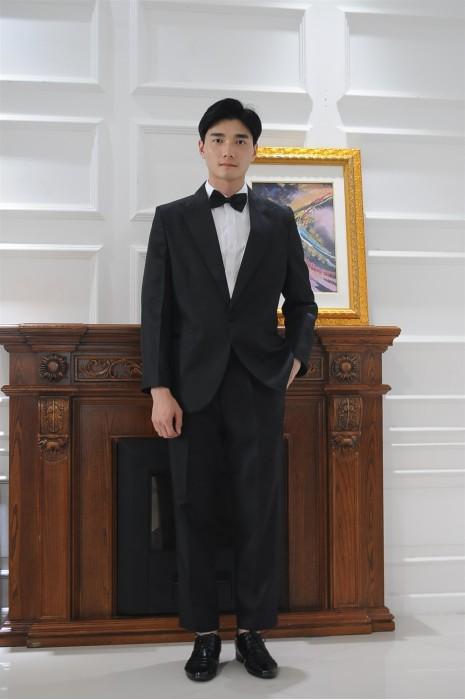 MDCU013 制訂黑色三件套賭場制服 模特試穿 真人展示 修身腰封寬鬆外套 賭場制服專門店
