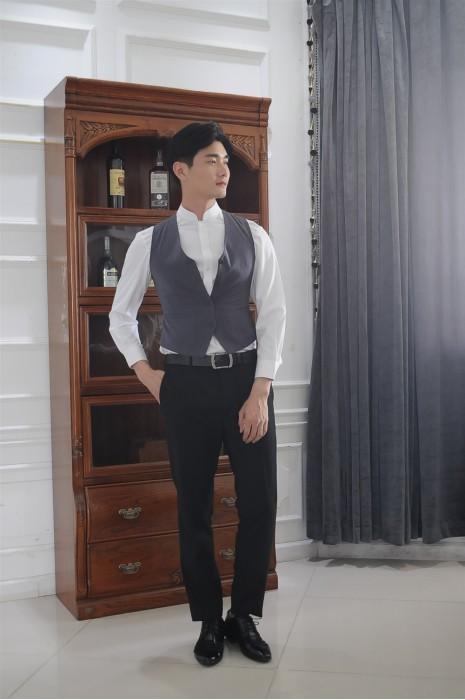 MDCU010 訂做賭場制服 模特示範 修腰馬甲 賭場制服製作商