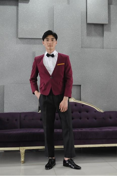 MDCU014 製作暗紅色賭場制服 模特試穿 真人展示 網上訂購前短後長 賭場制服專門店