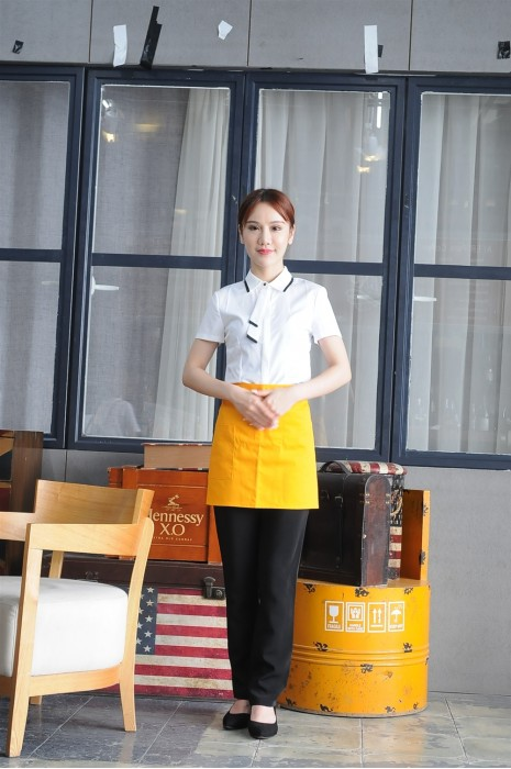 MDCU019 製作短袖賭場制服 真人效果 撞色邊領恤衫 帶領花 賭場制服生產商