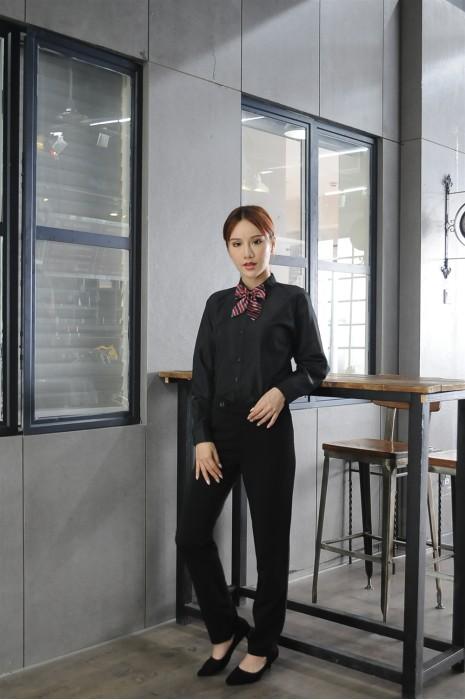 MDCU023 制訂黑色賭場制服 真人試穿 長袖恤衫 侍應恤衫 賭場制服專門店