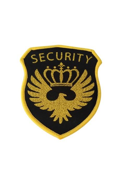 SKAB008 訂製保安臂章 金色皇冠臂章 飛行臂章