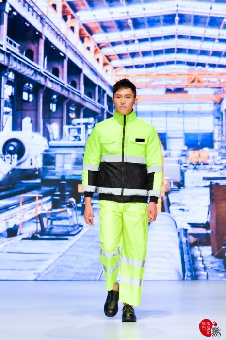 MDD005 模特示範反光雨衣 真人走秀雨衣套裝 工業服專門店