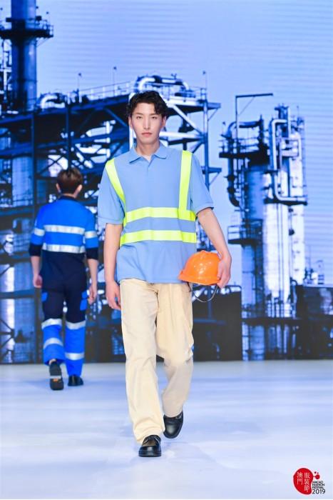 MDD009 工業反光Polo恤真人效果  模特試穿工地服裝 工業制服製衣廠