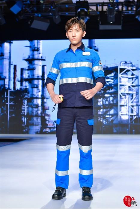 MDD010 工業反光帶套裝模特示範 真人走秀工業制服 工作服製造商