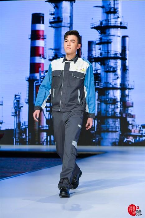 MDD011  工業制服套裝試穿效果 真人走秀工作服 工業制服製衣廠