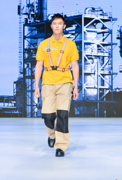 MDD012  工業反光帶背心  工業制服套裝真人示範  模特走秀 工作服專營