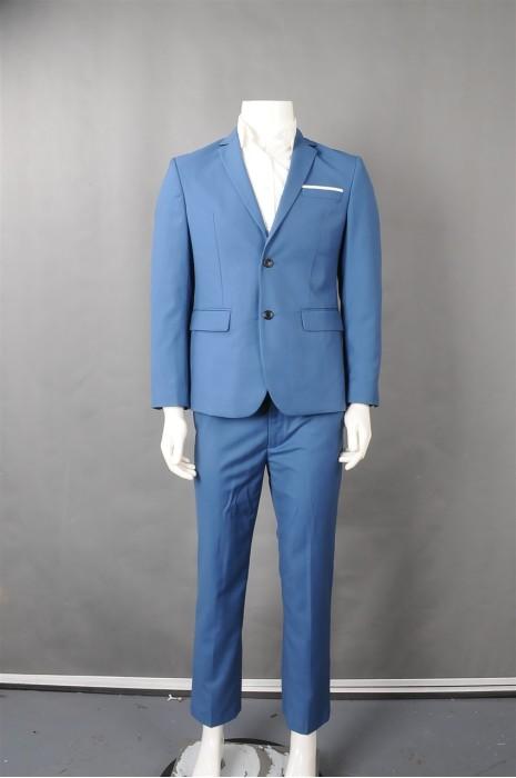 iG-BN-CN-057 设计时尚蓝色西装  供应修身男西装套装 男西装专门店