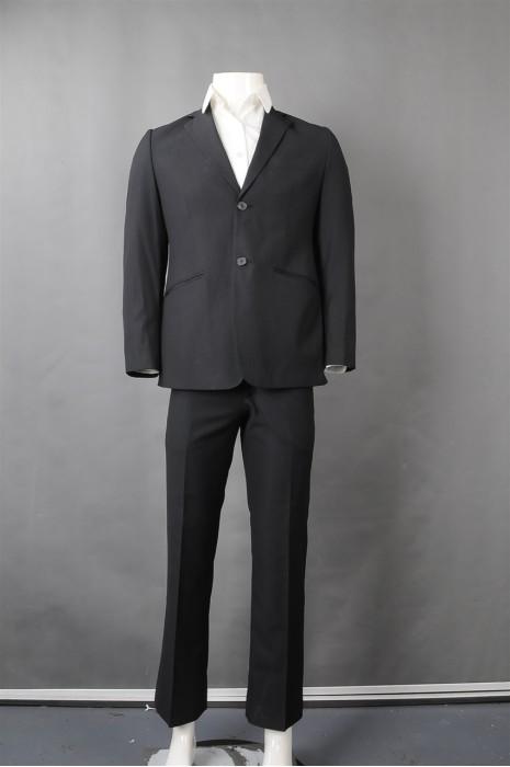 iG-BN-CN-048 制作黑色条纹男西装 供应男装商务西装 男西装制衣厂