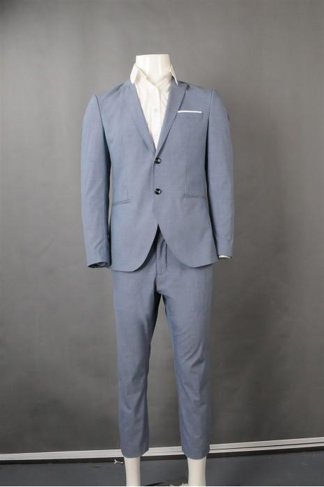 iG-BN-CN-046 设计浅蓝色男西装  网上下单男西装套装 男西装制服公司