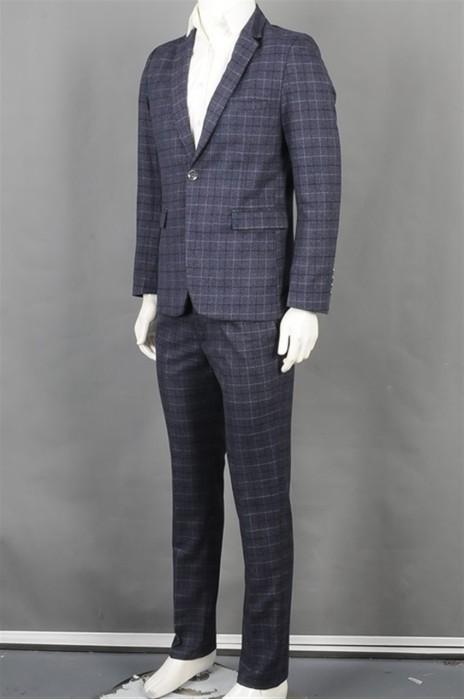 iG-BD-CN-037  订购格仔男西装套装 制作蓝色男西装 男喜欢hk中心