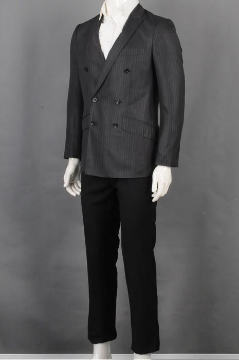 iG-BD-CN-039  订购双排扣男西装套装  供应细条纹男装西装   男西装供应商