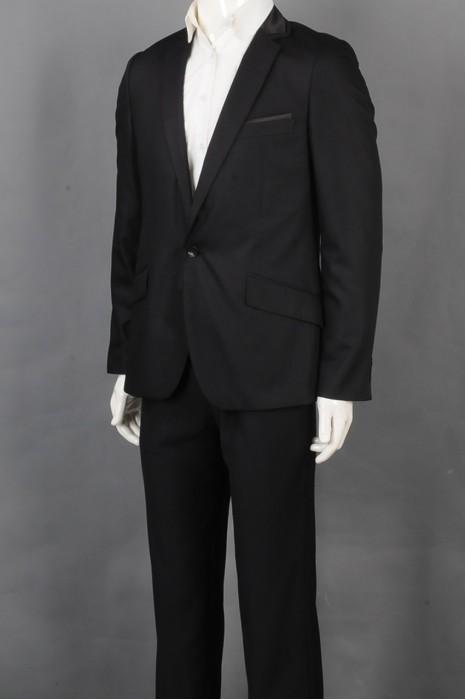 iG-BD-CN-131   设计时尚黑色西装  供应修身男西装套装 男西装专门店