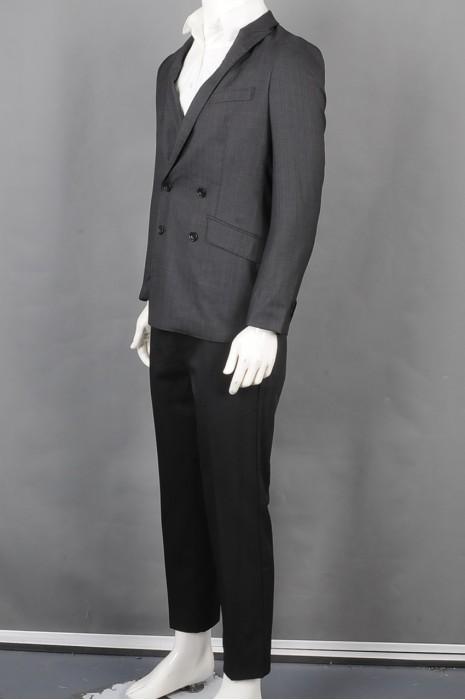 iG-BD-CN-132   订购双排扣男西装套装  供应细条纹男装西装   男西装供应商  4颗纽扣