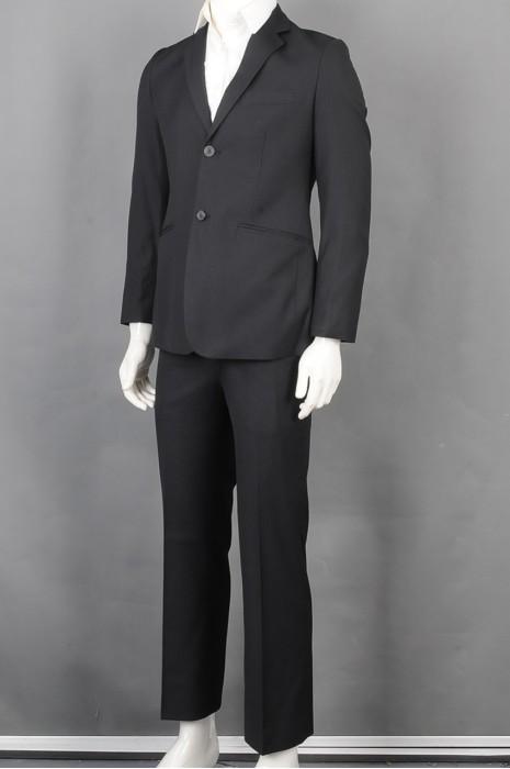 iG-BD-CN-133 制作黑色条纹男西装 供应男装商务西装 男西装制衣厂