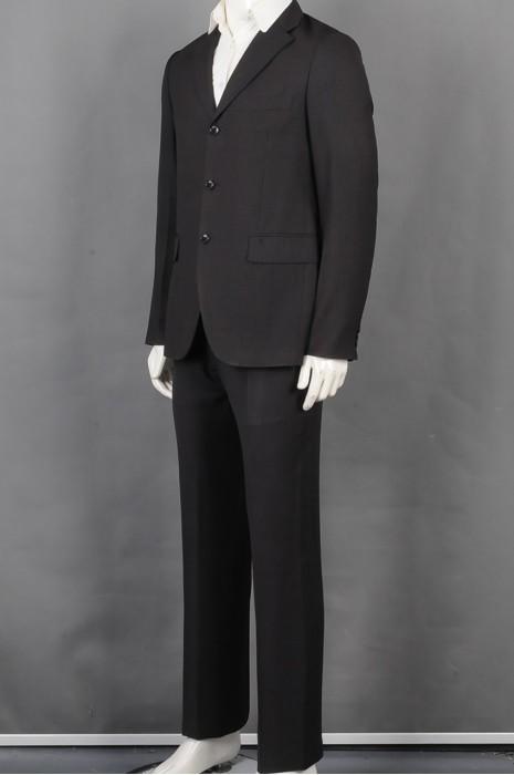 iG-BD-CN-139   订做黑色条纹男西装 制作男装商务西装 男西装供应商