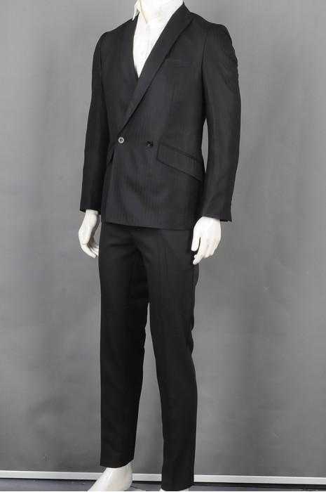 iG-BD-CN-140   订购双扣男西装套装  供应细条纹男装西装   男西装供应商  2颗纽扣