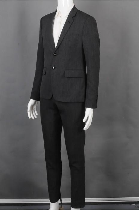 iG-BD-CN-212 订制男西装   设计黑色男西装套装  男西装中心