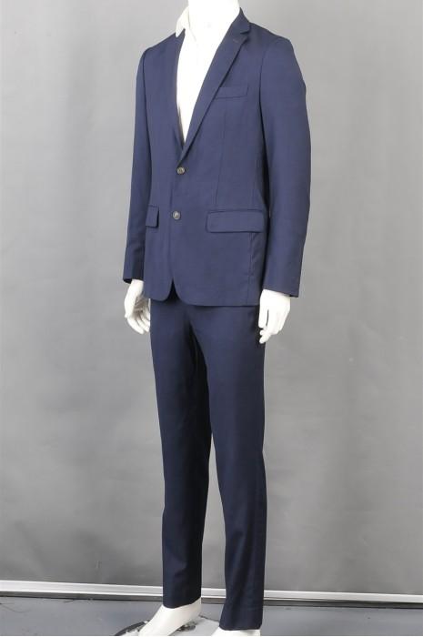 iG-BD-CN-214 设计男西装 时尚休闲蓝色男西装 男西装供应商