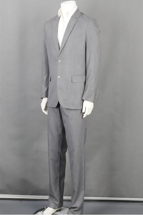 iG-BD-CN-215 订制灰色男西装 设计时尚男西装 男西装供应商