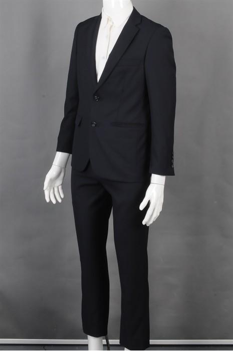 iG-BD-CN-216  制造男西装 设计黑色长袖套装男西装 男西装供应商