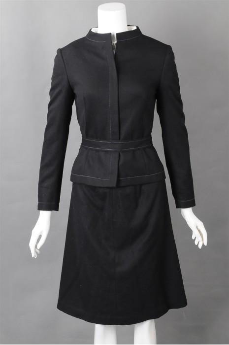 iG-BN-CN-015 制作修腰女西装 供应时尚中长裙女西装 女西装专门店