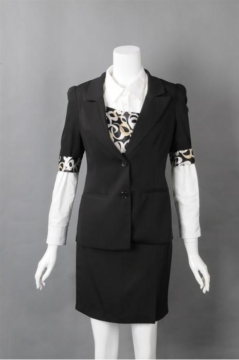 iG-BN-CN-016 订购时尚女西装 豹纹 网上下单女西装 女西装hk中心