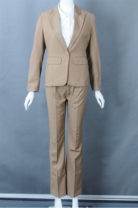iG-BN-CN-017 制造卡其色女西装 订购裤装西装 女西装制服公司