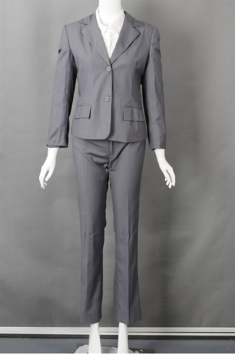 iG-BN-CN-021 制作上班女西装套装和  订购灰色正装西装 女西装制服公司