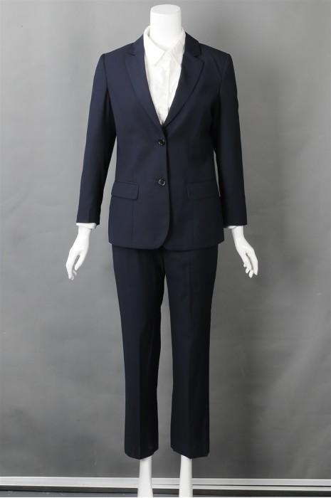 iG-BN-CN-022 供应蓝色女西装 网上下单女西装 女西装制造商
