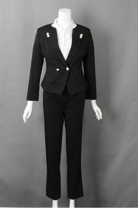 iG-BN-CN-023 制造修身时尚女西装 来样订造女西装 女西装制服公司