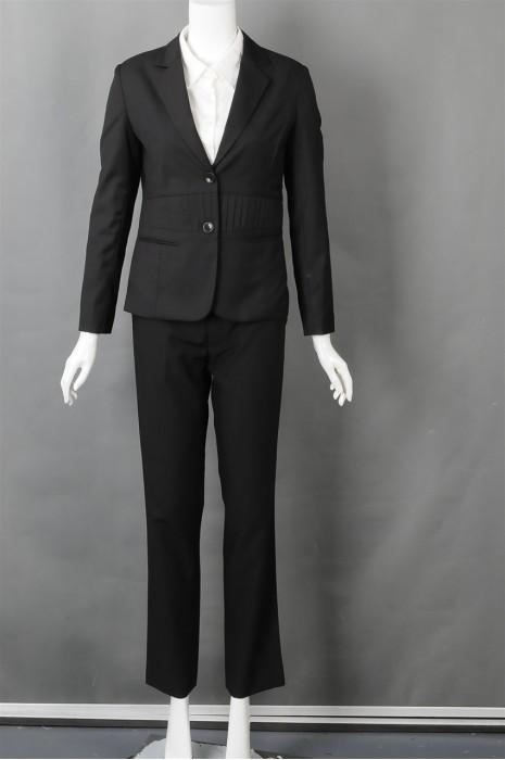 iG-BN-CN-024 制造黑色女西装 大量订造上班西装 女西装专门店