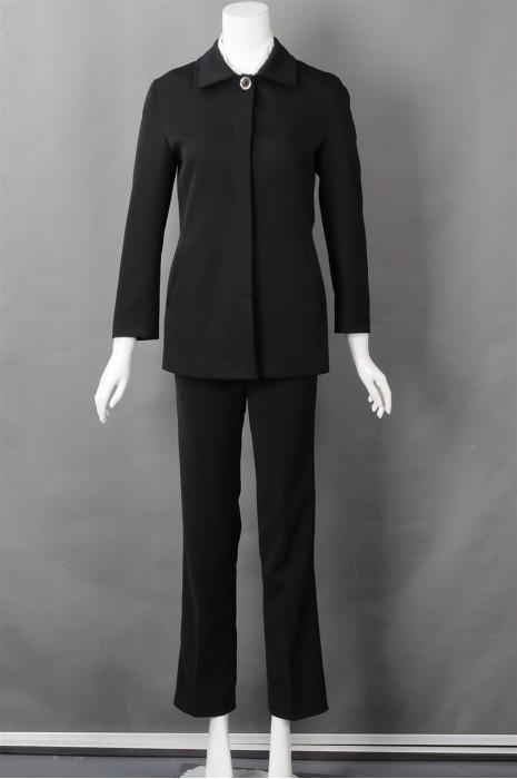 iG-BN-CN-056 网上下单女西装 设计时尚黑色女西装 女西装hk中心