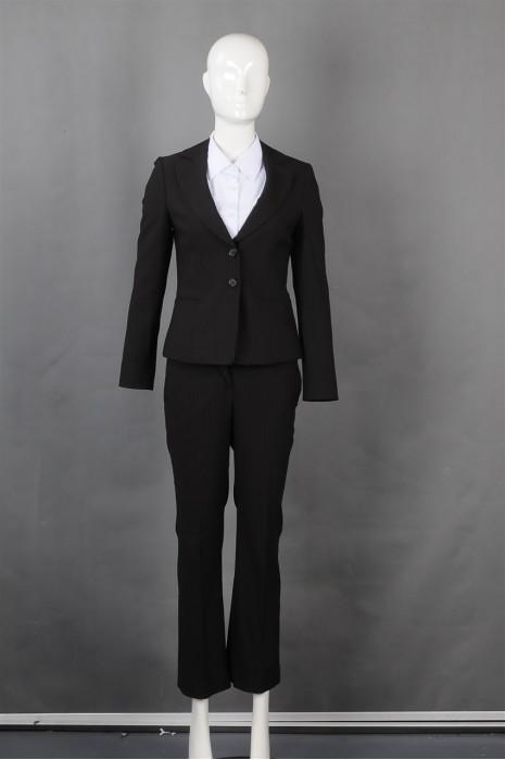 iG-BN-CN-067 制造修身条纹女西装 来样订造女西装 女西装生产商