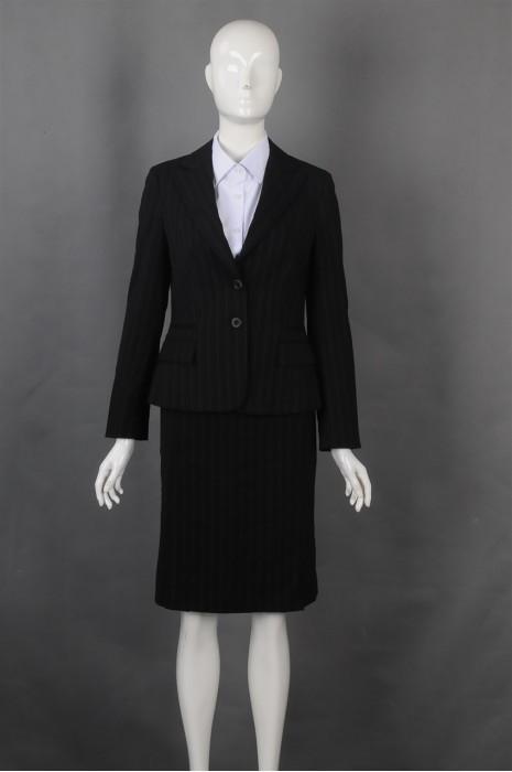 iG-BN-CN-069 制造修身条纹女西裙 来样订造女西装 女西装制服公司