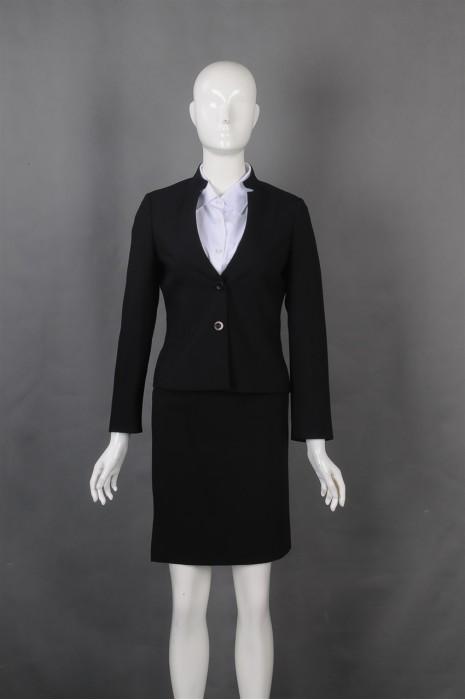 iG-BN-CN-071 设计立领女西装裙 订购修身女西装 女西装专门店