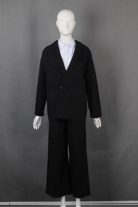 IG-BN-CN-066 订造阔腿女西装 设计时尚女西装套装 女西装专门店