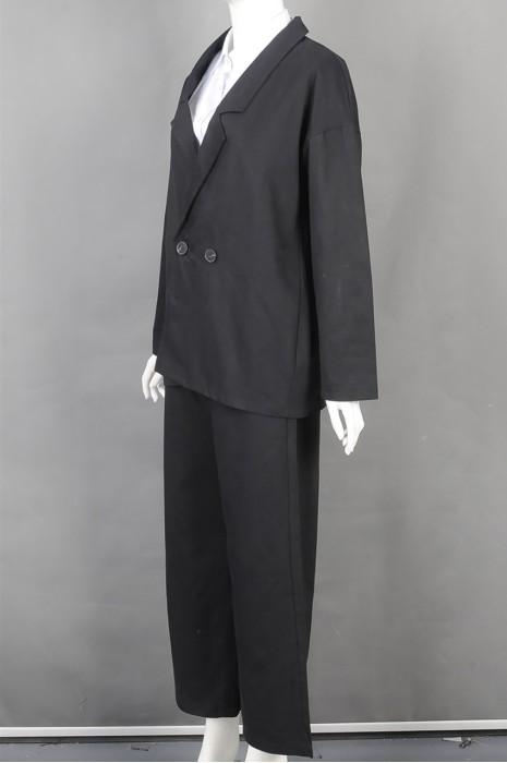 iG-BD-CN-168 订造阔腿女西装 设计时尚女西装套装 女西装专门店