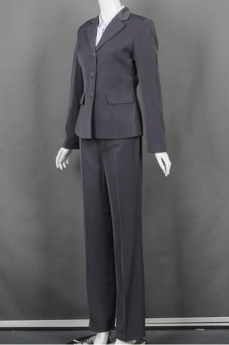 iG-BD-CN-167  设计灰色女西装套装 供应修身女西装 女西装制造商