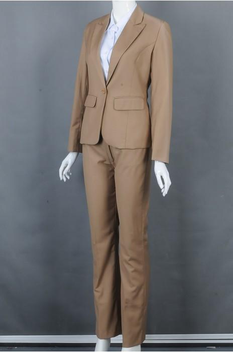 iG-BD-CN-166 制造卡其色女西装 订购裤装西装 女西装制服公司