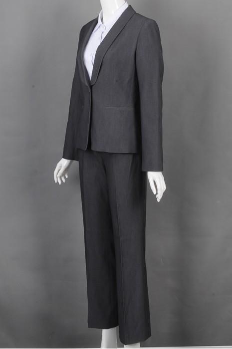 iG-BD-CN-163 制造修身条纹女西裙 来样订造女西装 女西装制服公司