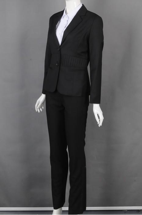 iG-BD-CN-161 制造黑色女西装 大量订造上班西装 女西装专门店