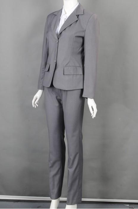 iG-BD-CN-160 制作上班女西装套装和  订购灰色正装西装 女西装制服公司