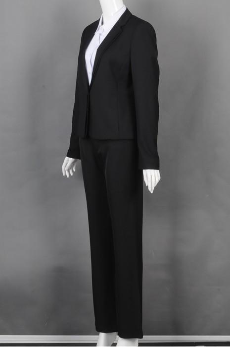 iG-BD-CN-158 设计黑色女西装套装 度身订造女西装 女西装制衣厂