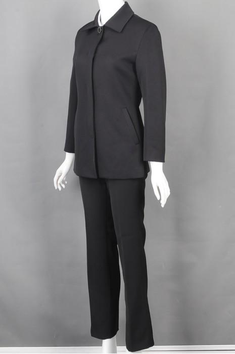iG-BD-CN-156 网上下单女西装 设计时尚黑色女西装 女西装hk中心
