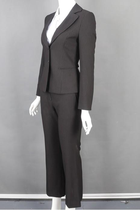 iG-BD-CN-155 订购条纹女西装 正装女西装套装 套装制造商